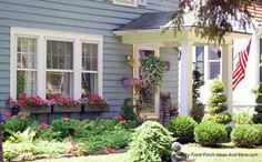landscape front porch area | Front Yard Landscaping | Landscaping Yards | Privacy Landscaping