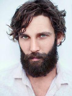 Longer hair with beard #manstyle