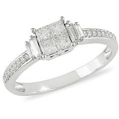 ****MY RING**** I <3 it  1/2 Carat T.W. Round Princess-Cut and Baguette Diamond Ring in 10kt White Gold