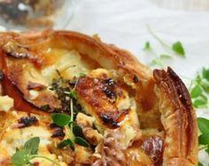 Quiche légère aux oignons et au chèvre : http://www.fourchette-et-bikini.fr/recettes/recettes-minceur/quiche-legere-aux-oignons-et-au-chevre.html