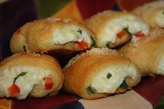 Christy: New Year: Appetizer Ideas Parmesan Bites. Make it low carb by changing out the crescent rolls for a low carb bread mix