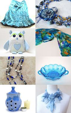 Blue Shades by Anna Margaritou on Etsy--Pinned with TreasuryPin.com