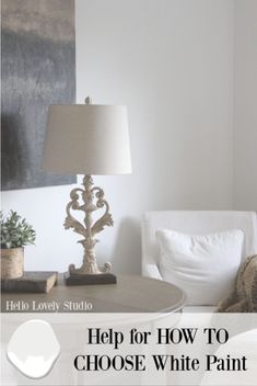 Help for how to choose white paint for your interiors is on the way - Hello Lovely Studio shares tried and true tips and advice for colors. Best White Paint, White Paint Colors, Favorite Paint Colors, Wall Paint Colors, Bedroom Paint Colors, Paint Colors For Living Room, White Paints, Beautiful Interior Design, Interior Design Inspiration