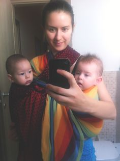 Babywearing twins: Ring Sling is our favorite How To Wear Rings, Ring Sling, Babywearing, Tandem, Twins, About Me Blog, Check, Beautiful, Gemini