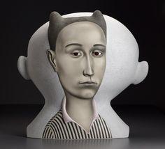 Black and white - ceramic - figurative - Sergei Isupov