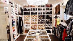 10 Luxury Walk-in Closet Design Ideas That Will Make Your Jaw Drop Walk In Closet Design, Closet Designs, Closet Tour, Celebrity Closets, Luxury Closet, Makeup Rooms, Master Closet, Huge Closet, Room Closet