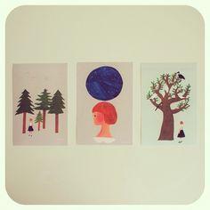 西淑さんの個展「森へ」ボリクコーヒーにて開催中。 @nishi_shuku  Postcards of Shuku Nishi. - @iokamiho- #webstagram