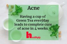 Having a cup of green tea everyday can make you get rid of acne! You can make a DIY green tea mask too, find out here... #TeaTreeOilMask #PeelOffFaceMasks #TumericMask Skin Care Masks, Diy Skin Care, How To Apply Lipstick, How To Apply Makeup, Makeup Jobs, Diy Makeup, Cucumber Face Mask, Ayurvedic Remedies, Concealer Palette