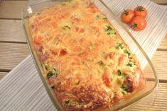 Broccoli frittata uit de oven met cherrytomaatjes en rode ui