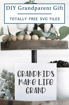 Make a cute sign or shirt for the grandparents in your life with this Totally Free SVG File from Everyday Party Magazine today! #TotallyFreeSVG #CutFilesForCricutAndSilhouette #Grandparents