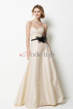 großes Bild 1 Taft glamouröses schick Brautjungfernkleid mit Schmetterlingsknoten