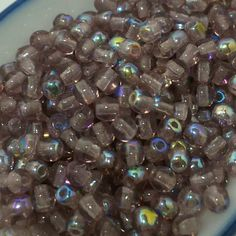 3mm Amethyst AB Pressed Glass Round Druk Beads. Huge variety of colors  available in our Etsy shop!