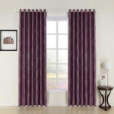 "twopages Long River Jacquard Grommet Top Purple Room Darkening Curtain (One Panel) 50Wx84""L twopages http://smile.amazon.com/dp/B00LI2F3TW/ref=cm_sw_r_pi_dp_fmVSub1W6J7WB"