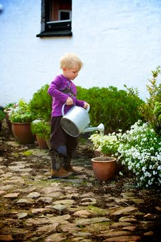 Do you love to photograph like I do? Get my 7 FREE basic photography tips - you need to know here; http://pw5383.wixsite.com/free-photo-tips | Photographer Pernille Westh | My son loves to water the flowers · Celebrate childhood...