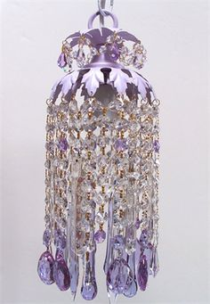 Lilac Crystal Pendant Chandelier