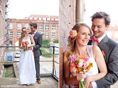 Hochzeitsinspiration: Rustikaler Industrie-Charme mit Pastellfarben and Kupfer