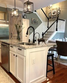 Looking for for images for farmhouse kitchen? Browse around this website for cool farmhouse kitchen pictures. This amazing farmhouse kitchen ideas appears to be completely brilliant. Cuisines Design, New Kitchen, Kitchen Ideas, Kitchen Black, Gray Kitchen Walls, 1960s Kitchen, Ranch Kitchen, Kitchen Themes, Updated Kitchen