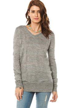 ShopSosie Style : Loewen Sweater in Grey