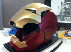 3D printed Iron Man helmet.