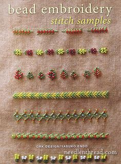 Bead Embroidery Stitch Samples & Motifs