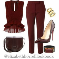 Wine time. Love the peplum.