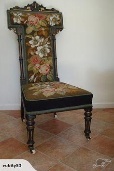 High backed beaded chair