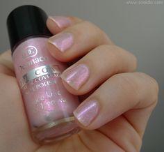 sonidlo´s nail polishes: Dermacol lak na nehty s růžovými střípky