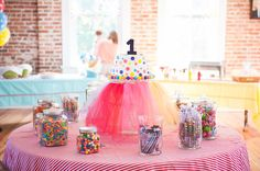 First Birthday Party: Carnival Treats and Brilliant Colors | Done Brilliantly