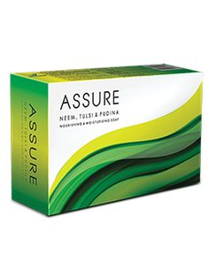 Assure soap is a unique blend of Neem, Tulsi and Pudina. It protects the skin without drying it out. It also disinfects and refreshes the skin leaving it feeling fresh
