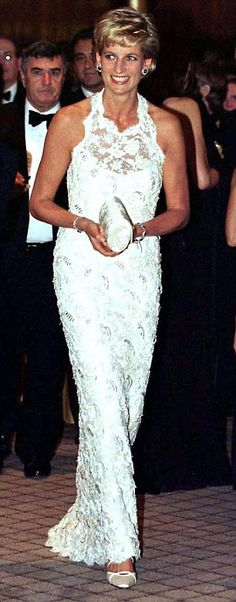 Princess Diana in 1996. This was always my favorite, very favorite, of her gowns!!!