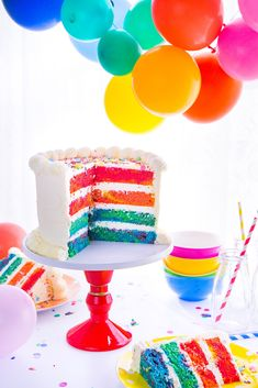Bubble Gum Marble Rainbow Cake - It's just like a rainbow cake, but so much more fun - just add candles!