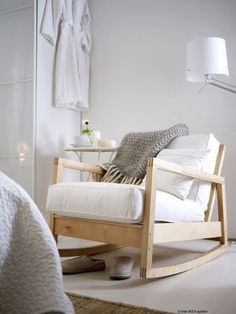 Ikea rocking chair - I have wanted one of those ones for SO LONG, they are so so comfortable