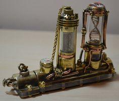 Motorized Steampunk flash drive molecule DNA + NIXIE Lamp , steampunk usb stick , 128GB  USB 3.0