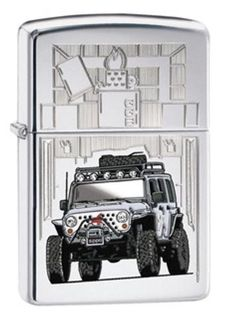 Classic High Polished Jeep Wranger Zippo Lighter