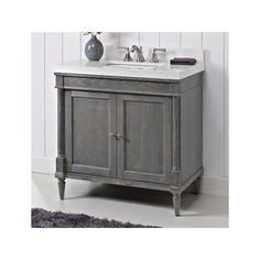 Fairmont Designs Rustic Chic 36 x x Bathroom Vanity Silvered Oak Fairmont Designs, Contemporary Vanity, Dream Bath, Rustic Chic, Sink, 21st, Bathroom, Silver, Stuff To Buy