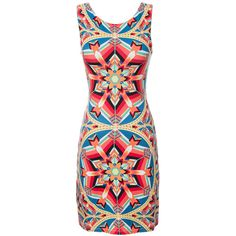 Mara Hoffman Sleeveless Cut Out Back Mini Dress ($238) ❤ liked on Polyvore featuring dresses, short dresses, teal, mini dress, teal short dresses, teal dress, kaleidoscope dress and red dress