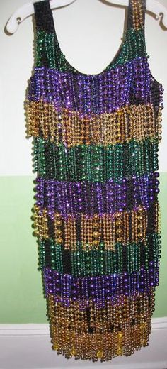 Dance the night away in your very own Mardi Gras flapper dress!
