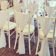White chair drapes that we finished with white rose pew ends and silver glitter ribbon! Glitter Ribbon, Silver Glitter, Pew Ends, White Roses, Wedding Events, Dining Chairs, Sparkle, Furniture, Home Decor