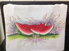 Pintura em tecido: Melancia.