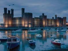 The imposing Caernarfon Castle Wales