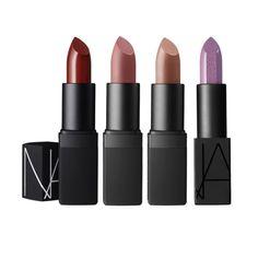 NARS Audacious Lipstick-Dominique, NARS $32 Semi Matte Lipstick-VIP Red, NARS $28 Sheer Lipstick-Dolce Vita, NARS $28 Satin Lipstick-Rosecliff, NARS $28