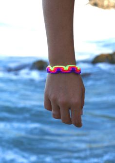 Neon Macrame Bracelet no1 by makunaima on Etsy, $12.90