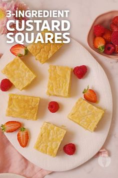 Make easy custard squares with just 3 ingredients! Make this easy 3 ingredient dessert with puff pastry, custard and marshmallows. This quick and easy dessert idea is a sweet treat perfect to prep-ahead. This easy custard squares recipe is great for kid's treats, an easy snack and makes a great edible gift idea too. Try our easy custard squares recipe for a comforting treat! Easy Snacks, Easy Desserts, Dessert Recipes, Cheesy Recipes, Sweet Recipes, 3 Ingredient Desserts, Puff Pastry Desserts, Cheesy Garlic Bread, Marshmallows