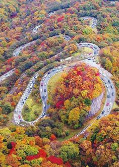 Chaloos Road in Iran.