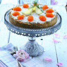 Cheesecake med skaldjur & löjrom