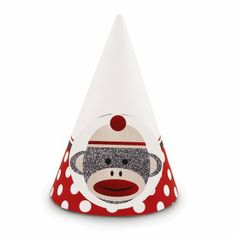 Can't have a party without Sock Monkey Party Hats