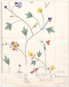 Maria Likarz-Strauss, 1931, floral pattern