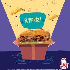 Ona bir sürpriz yap! Arby's'e uğra ve Çıtır Baget Etli Sandviç al, içi kıvır kıvır olsun. :)