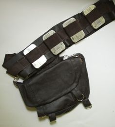 DIY Chewbacca bandolier out of thrifted leather skirt & altoid tins #starwars