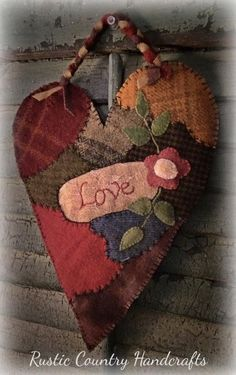 Terri Battles's media content and analytics Wool Applique Patterns, Felt Patterns, Felt Applique, Print Patterns, Penny Rugs, Felted Wool Crafts, Wool Quilts, Fabric Hearts, Wool Embroidery